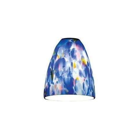 Fire (l) Glass Shade in with Blue (BLU) Diffuser