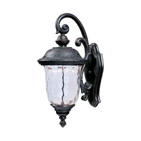 Carriage House LED Outdoor Wall Mount in Oriental Bronze w/Water Glass Glass