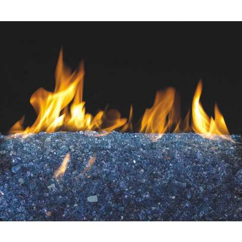 Sapphire Fireplace Glass Crystals - 7.5lb bag