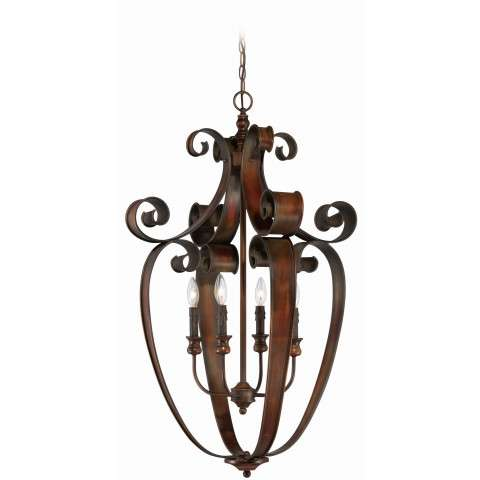 Craftmade Exteriors Seville - Spanish Bronze 4 Light Foyer in Spanish Bronze