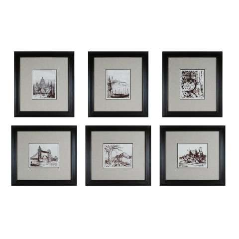 Sterling Furnishings 10016-S6 Etchings