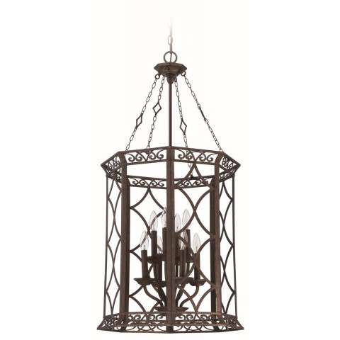 Jeremiah Indoor Lighting 8 Light Foyer In Peruvian Bronze