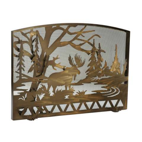 """Moose Creek Arched Fireplace Screen - 50"""" Wide x 35.5"""" Tall"""