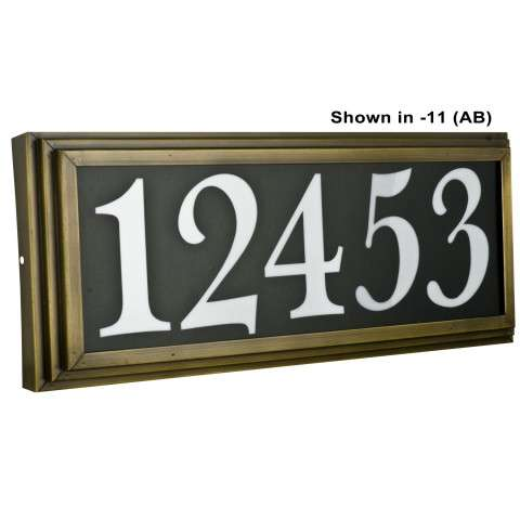 Sunset Lighting F10053-66 Large Address Light Stepped 4 inch Numbers Black Vinyl in Bronze Finish