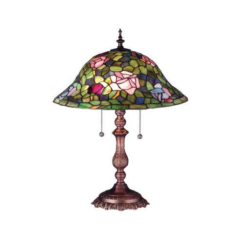 Meyda Tiffany 19769 Tiffany Rosebush Table Lamp