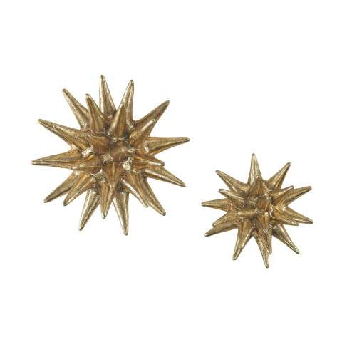 Parsec Gold 4-6 Inch Composite Wall Decor In Gold