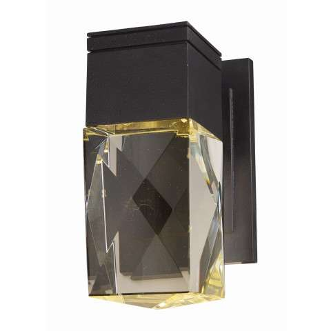 Holmby Hills LED 1-Light Outdoor Wall Lantern in Texture Ebony