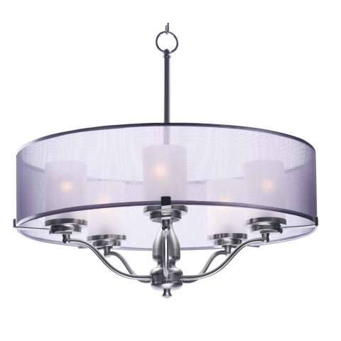 Lucid 5-Light Pendant in Satin Nickel