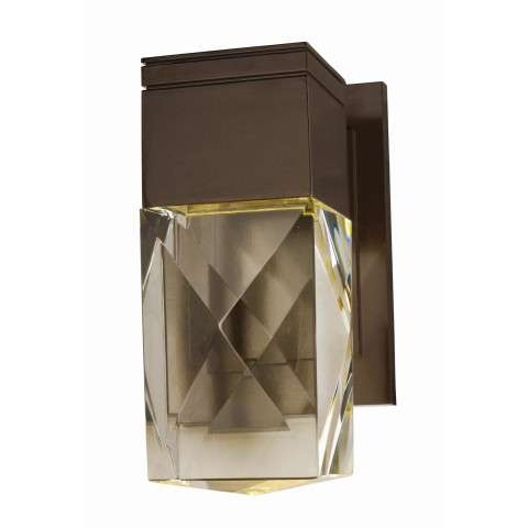 Holmby Hills LED 1-Light Outdoor Wall Lantern in Metallic Bronze