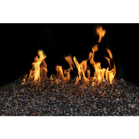 Black Granite Fireplace Glass Gems - 7.5lb bag