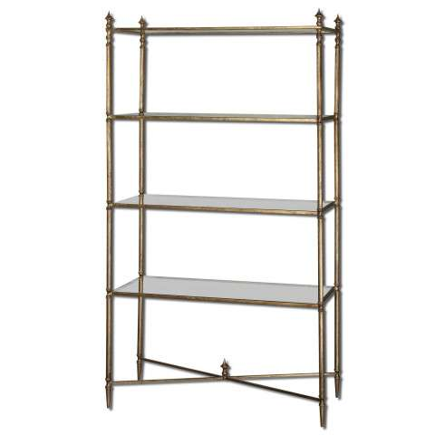 Uttermost Henzler Mirrored Glass Etagere