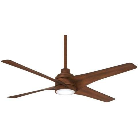 "Swept 56"" LED Ceiling Fan In Distressed Koa"