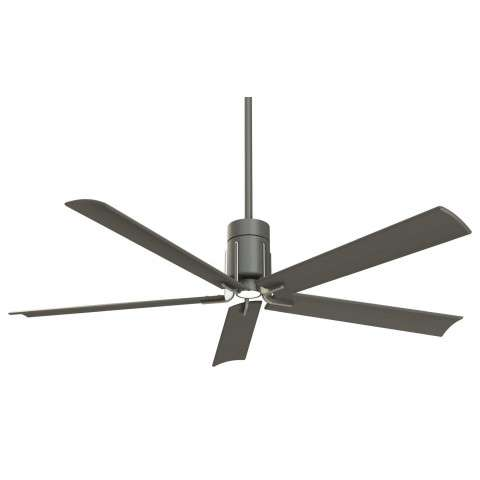 "Clean 60"" LED Ceiling Fan In Grey Iron And Brushed Nickel"