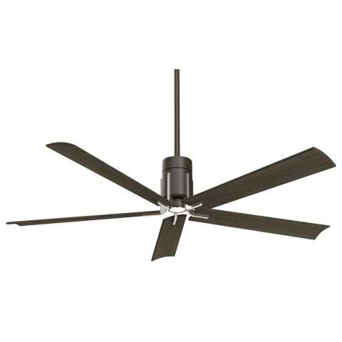 "Clean 60"" LED Ceiling Fan In Matte Black And Brushed Nickel"