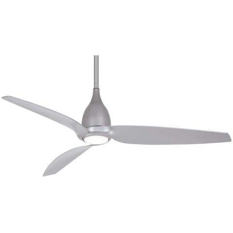 "Tear 60"" LED Ceiling Fan In Silver"