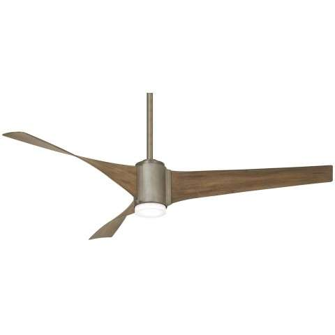 "Triple 60"" LED Ceiling Fan In Brushed Steel"