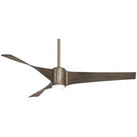 "Triple 60"" LED Ceiling Fan In Vintage Iron"