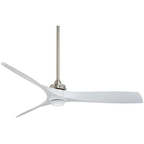 Aviation LED in Brushed nickel with White Blades