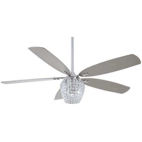 "Bling 56"" LED Ceiling Fan In Chrome"