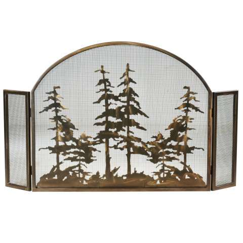 """Tall Pines Arched Fireplace Screen - 50"""" Wide x 30"""" Tall"""