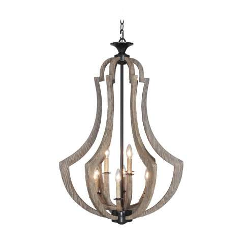 Jeremiah Winton 9 Light Foyer In Weathered Pine