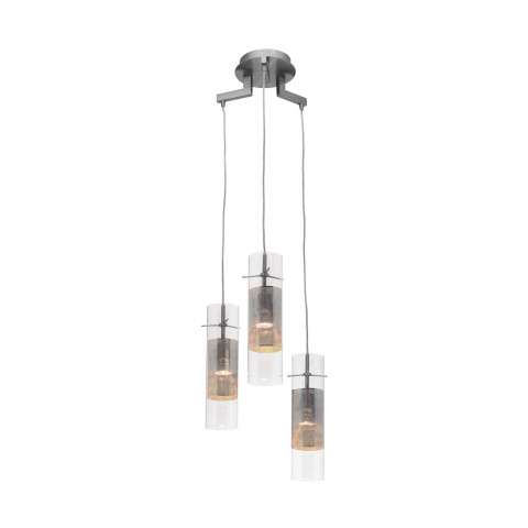 Access Lighting 50526-BS/CLM Spartan Pendant in Brushed Steel finish