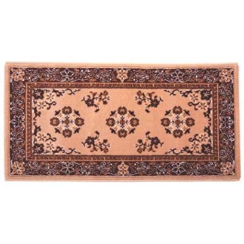 Oriental Hearth Rug - Rectangular - Beige