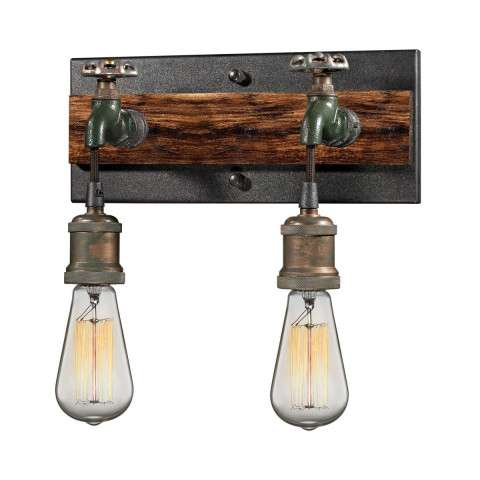 Jonas 2 Light Wall Bracket In Multi-tone Weathered