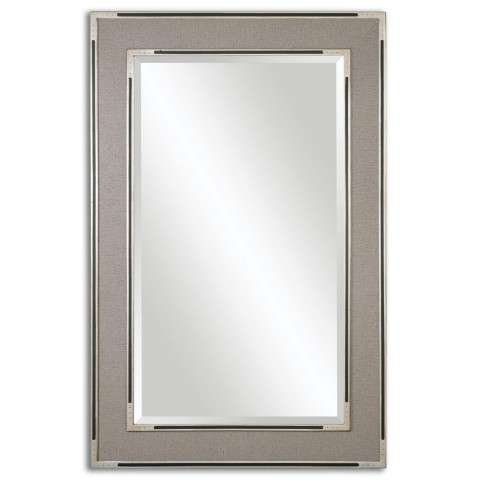 Uttermost Alfred Oversized Gray-Tan Mirror