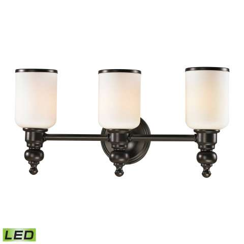 Bristol Collection 3 light bath in Oil Rubbed Bronze - LED - 800 Lumens (2400 Lumens Total) With F…