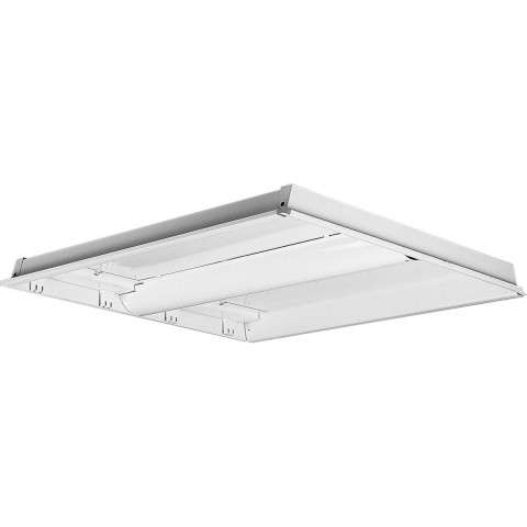 Progress P7213-30EB Two-light modular fluorescent in White finish with white acrylic glass.