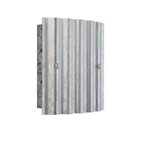 Recessed Corrugated in Galvanized