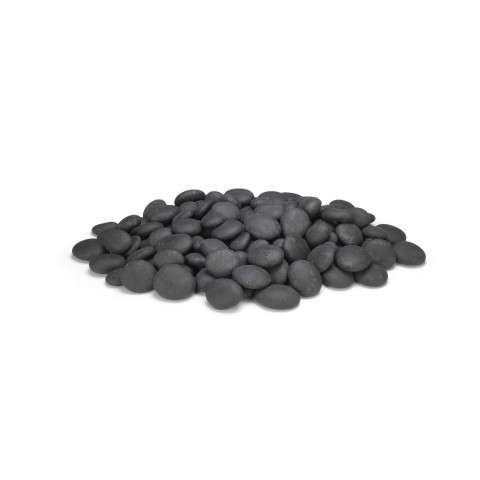 AFD - CSTN-20-B Black Creekstones for Outdoor Fire Pits (140 pieces).