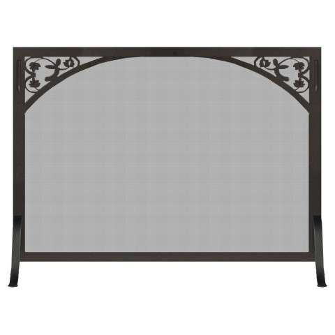 Custom Single Panel Fireplace Screen - Tuscan
