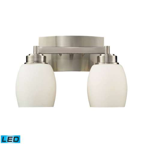 Northport 2-Light Vanity In Satin Nickel - LED - 800 Lumens (1600 Lumens Total) With Full Scale Di…
