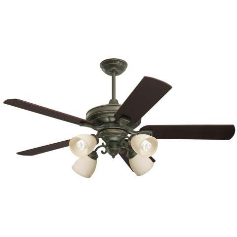Emerson Carrera Grande Eco 54 (DC Motor) Ceiling Fan Model CF788GES-B77CH-F490GES-G58 in Golden Espresso