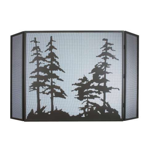 "Tall Pines Folding Fireplace Screen - 68"" Wide x 39"" Tall"