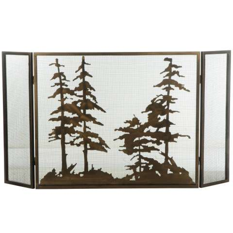 "Tall Pines Folding Fireplace Screen - 56"" Wide x 30"" Tall"