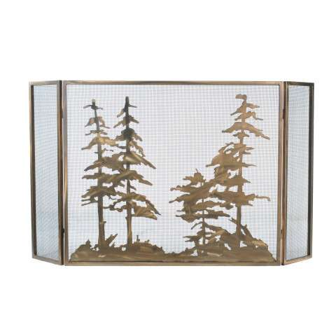 "Tall Pines Folding Fireplace Screen - 60"" Wide x 34"" Tall"