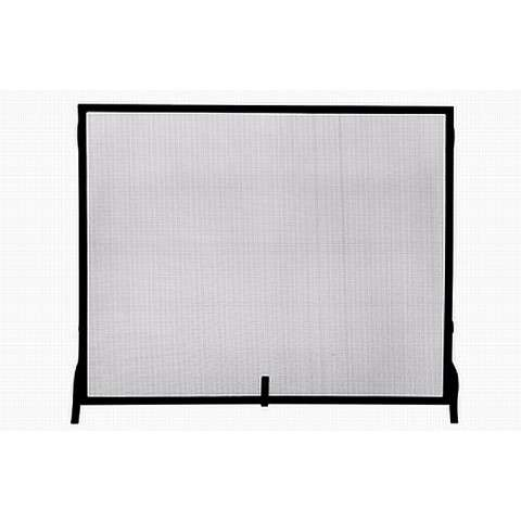 """Single Panel Black Wrought Iron Sparkguard - Large - 44"""" Wide x 33"""" Tall"""