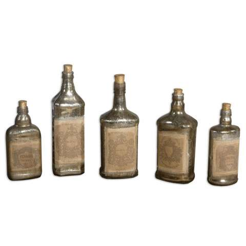 Uttermost Recycled Bottles Set/5