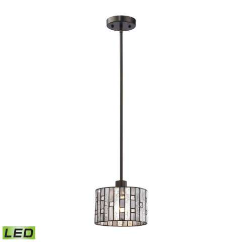 Ethan 1 Light LED Pendant In Tiffany Bronze
