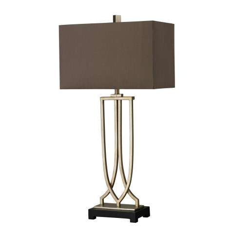 Jorgensen Wood Floor Lamp in Polished Nickel