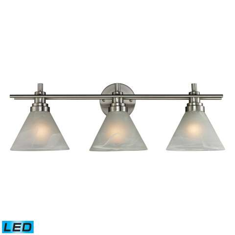 Pemberton 3 Light Bath In Brushed Nickel - LED Offering Up To 800 Lumens (60 Watt Equivalent) Wit…