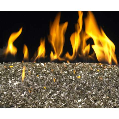 Bronze Reflective Fireplace Glass Crystals - 7.5lb bag