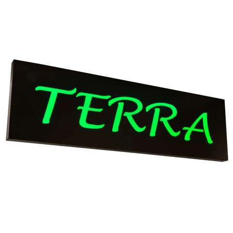 "70"" W Personalized Terra Led Sign - Custom Crafted In Yorkville - New York Please Allow 30 Days"