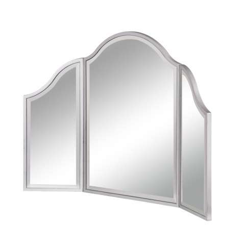Dressing Mirror 37 in. x 24 in. in Silver paint