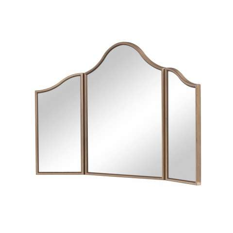 Dressing Mirror 39 in. x 24 in. in Gold paint