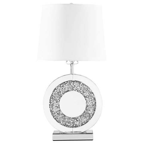Sparkle Collection 1-Light Silver Finish Table Lamp