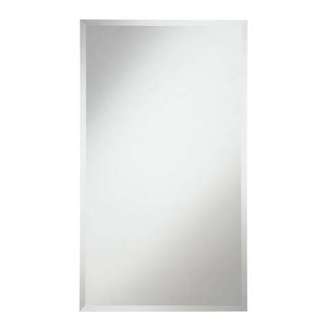 Modern 22 in. Contemporary Mirror in Clear